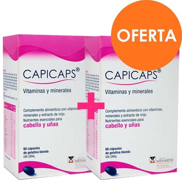 Capicaps Cabello y Uñas DUPLO 60 Cápsulas x 2