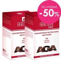 Iraltone AGA Concentrado Nutricional Anticaída DUPLO, 2x60 cápsulas ! Farmaconfianza
