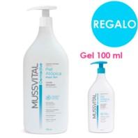 Mussvital Pack Piel Atópica Leche 750ml + REGALO Gel 100 ml. ! Farmaconfianza