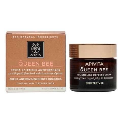 Apivita Queen Bee Crema Rica Antienvejecimiento Holística para pieles secas, 50 ml | Farmaconfianza