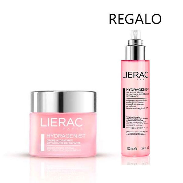 LIERAC HYDRAGENIST Crema Hidratante Oxigenante Rellenadora, 50 ml. + REGALO Bruma, 100 ml