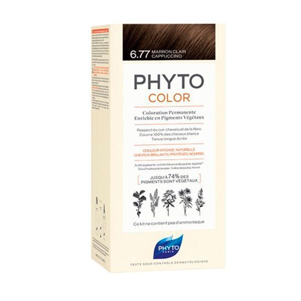 PhytoColor Sensitive 6.77 Marrón Claro Capuchino|Farmaconfianza