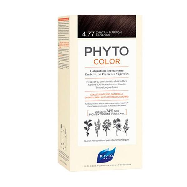 PhytoColor Sensitive 4.77 Castaño Marrón Profundo|Farmaconfianza