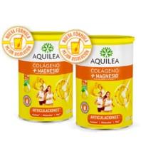 Aquilea Artinova Colágeno + Magnesio + Ácido Hial. + Vitamina C sabor limón, DUPLO 2x375 g