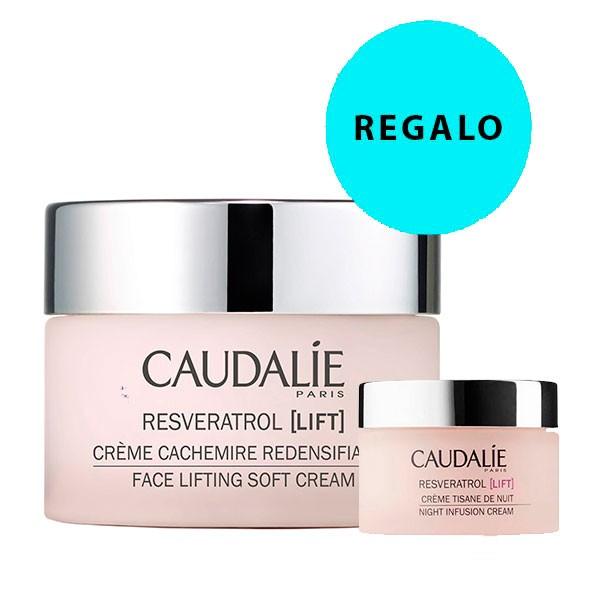 Caudalie Resveratrol LIft Crema Cachemire 50 ml + REGALO Crema Tisana de Noche, 15 ml
