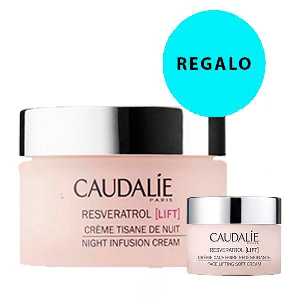 Caudalie Resveratrol Lift Crema Tisana de Noche, 50 ml + REGALO Crema Cachemire, 15 ml.