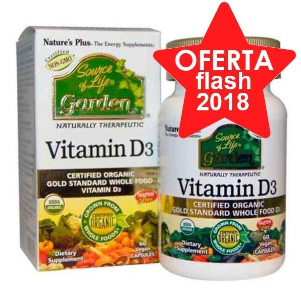 NATURE'S PLUS Vitamina D3, 60 Comprimidos. | Farmaconfianza