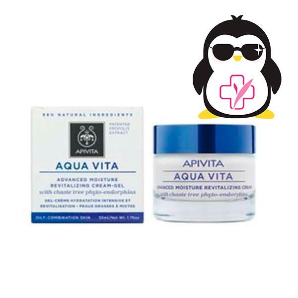 Apivita Aqua Vita Crema Avanzada Revitalizante para Pieles Normales a secas, 50 ml