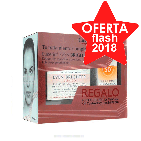 Eucerin Even Brighter Crema de Día + Regalo Sun Gel-Creme Oil Control Dry Touch FPS 50+ ! Farmaconfianza