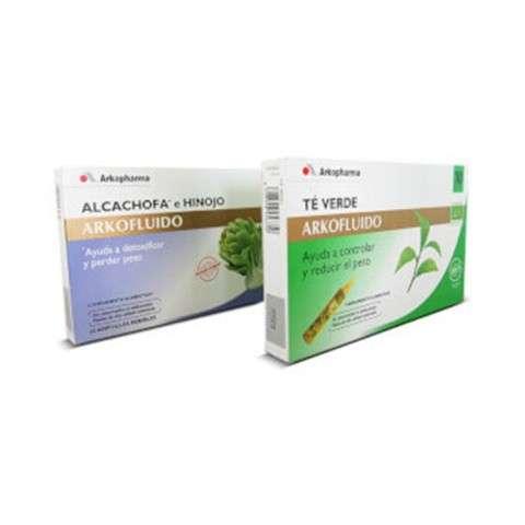 Arkofluido Alcachofa 10 ampollas + Té verde 10 ampollas ! Farmaconfianza