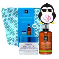 Apivita Aqua Vita Neceser Regalo Gel Limpiador + Crema Gel | Farmaconfianza | Farmacia Online