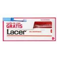 Lacer Gel Dentífrico Anticaries Textura Fluída, 125 ml con REGALO Cepillo de Viaje