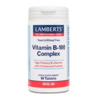 Lamberts Complejo de Vitamina B-100, 60 tabletas. | Farmaconfianza