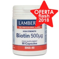 Lamberts Biotina 500µg, 90 cápsulas. | Farmaconfianza