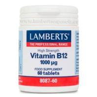 Lamberts Vitamina B12 1000 µg, 60 tabletas