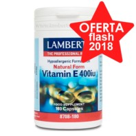 Lamberts Vitamina E Natural 400UI, 180 cápsulas. | Farmaconfianza