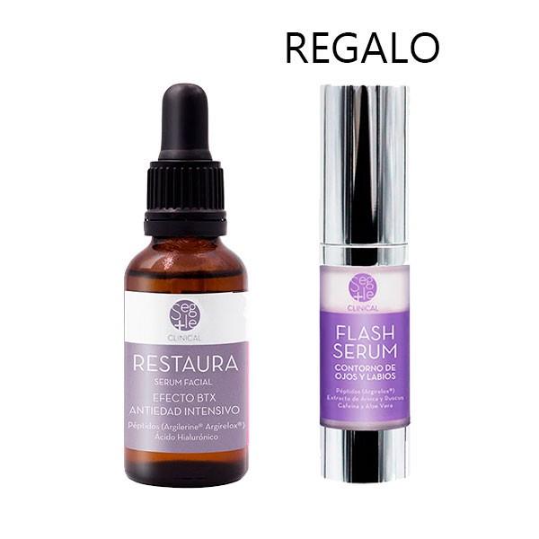 Segle Clinical Pack OFERTA Sérum Restaura, 30 ml + Flash Sérum Contorno de Ojos