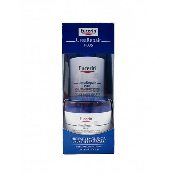 Eucerin Pack Urearepair Gel de Baño 400 ml +Bálsamo Nutritivo, 450 ml
