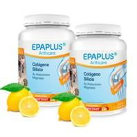 EPAPLUS Arthicare Colágeno + Silicio (+ Hialurónico + Mg + Vitaminas) Sabor Limón, OFERTA DUPLO 2 x 334g