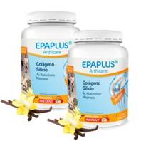 EPAPLUS Arthicare Colágeno + Silicio (+ Hialurónico + Mg + Vitaminas) Sabor Vainilla, OFERTA DUPLO 2 x 334g