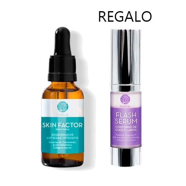 Segle Clinical Pack OFERTA Sérum Skin Factor, 30 ml + Flash Sérum Contorno de Ojos.
