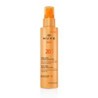 NUXE SUN Leche en Spray Rostro y Cuerpo SPF20 , 150 ml