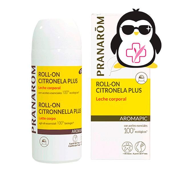 Pranarom Aromapic Roll-On Leche Corporal Anti-insectos BIO, 75 ml