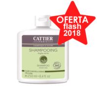 Cattier Champú Arcilla Verde para Cuero Cabelludo Graso, 250 ml