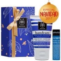 Apivita Handcare Crema Manos Agrietadas + Labial SPF20 Navidad 2017 | Farmaconfianza