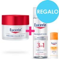 Eucerin Pack Volume Filler Crema Piel Normal/Mixta, 50 ml. + REGALO Solución Micelar + Sun Fluid Antiedad