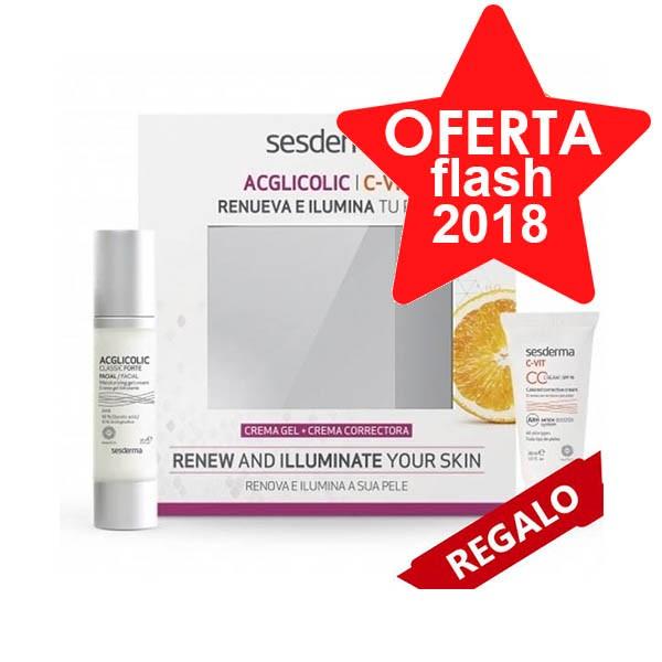Compra Online Pack Oferta de Sederma AcGlicolic Classic Forte Crema Gel + Cvit CC Cream