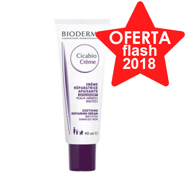 Bioderma Cicabio Crema Reparadora Pieles Lesionadas, 40 ml.