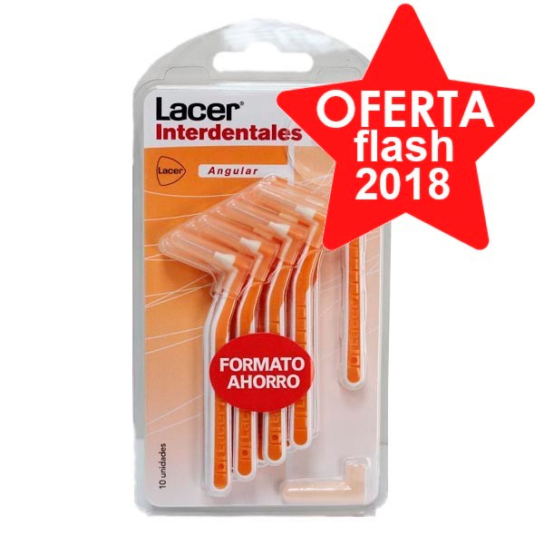 Lacer Cepillo Interdental Angular Extrafino Suave, 10 ud. ! Farmaconfianza