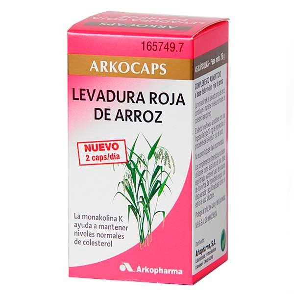 Arkocaps Levadura Roja de Arroz 45 cápsulas, 20g. ! Farmaconfianza