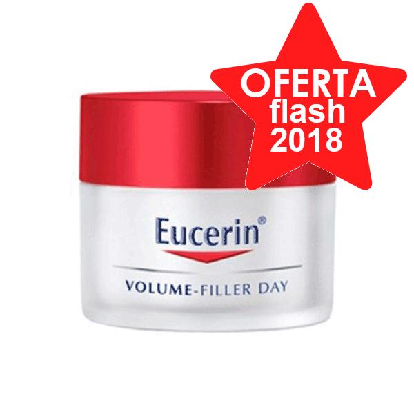 Eucerin Volume Filler Crema Facial de Día para piel normales y mixta con FPS15, 50ml con REGALO Emulsión Limpiadora DermatoClean