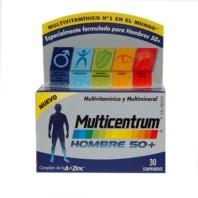 Multicentrum Hombre 50+, 30 comprimidos ! Farmaconfianza