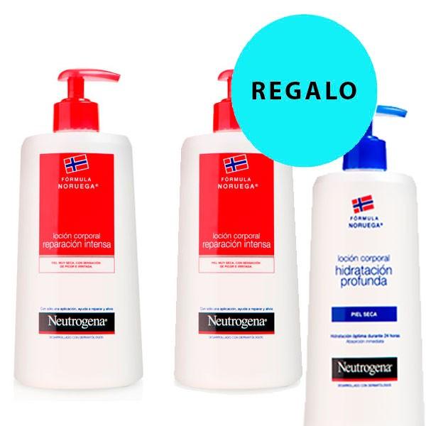 Compra Online Neutrogena Loción Reparación Intensa Piel muy Seca, DUPLO 2 x 750 ml