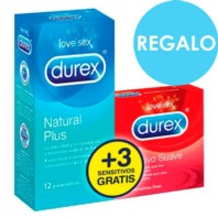 Durex Natural Plus 12 Preservativos + Regalo Durex Sensitive 3 Pres. | Farmaconfianza