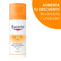Eucerin Sun Protection Gel Crema Rostro Oil Control Toque Seco SPF30, 50 ml