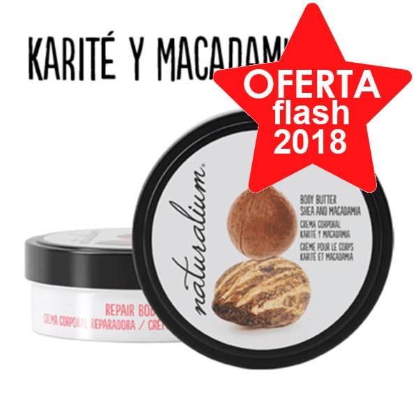 Naturalium Nuts Crema Corporal Karité y Macadamia, 200 ml