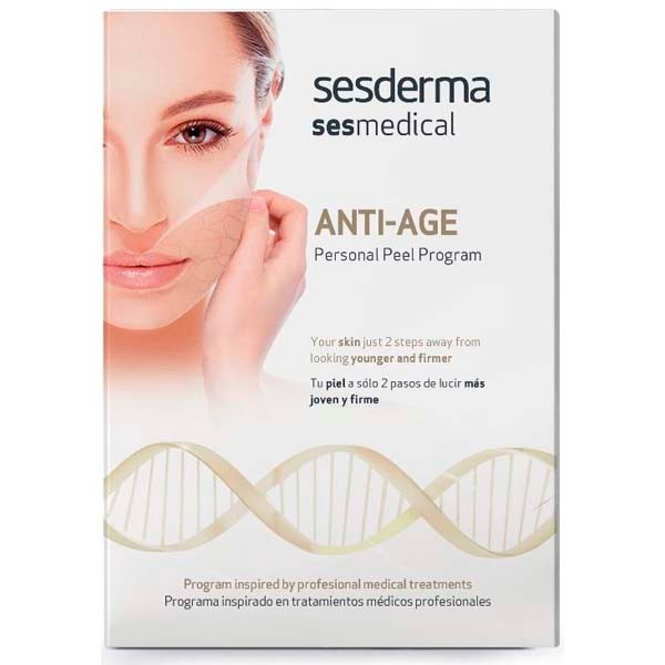 Sesderma Sesmedical Anti-Age Personal Peel Program, 4 toallitas Anti-age Peel Solution + 15 ml Ultra Sealing Cream.