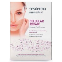 Sesderma Sesmedical Cellular Repair Personal Peel Program, 4 toallitas Cellular Repair + 15 ml Sealing Cream + Post-treatment Cream, 30 ml