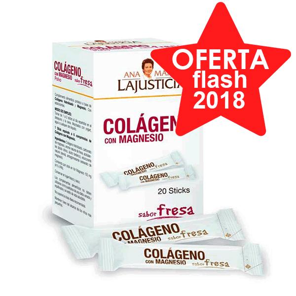 Ana María Lajusticia colágeno con magenesio fresa 20 sticks