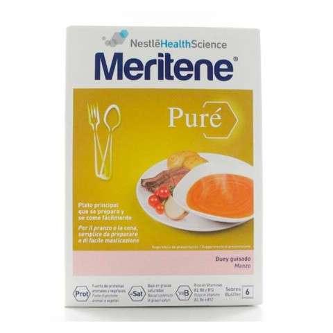 Meritene de Nestlé Puré Buey Guisado, 450 gr. ! Farmaconfianza
