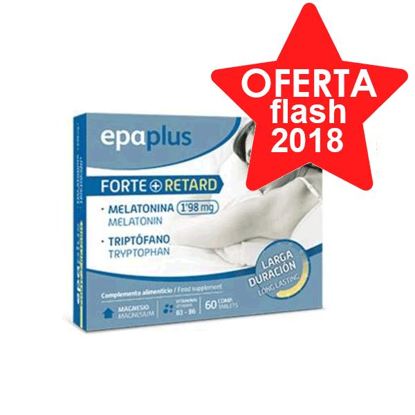 Epaplus Forte Retard Melatonina 1,98 mg + Triptófano, 60 comprimidos | Farmaconfianza