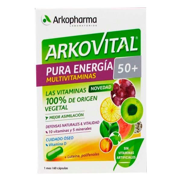 Arkovital Pura Energía 50+, 60 cápsulas ! Farmaconfianza