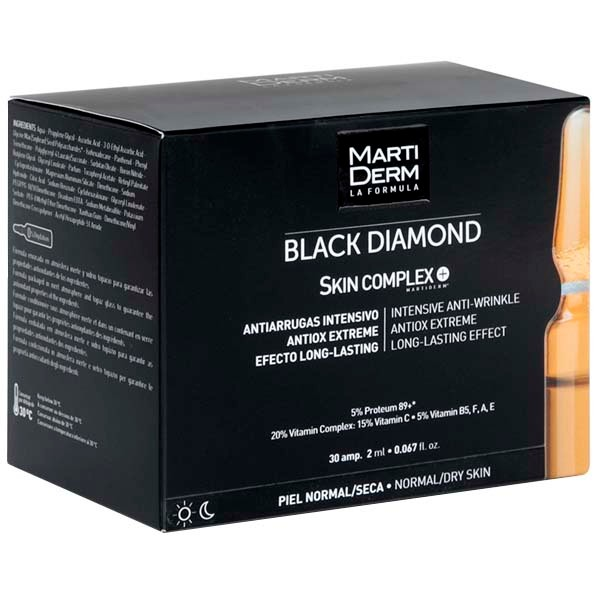 Martiderm Black Diamond Skin Complex+, 2 ml. 30 amp. | Farmaconfianza