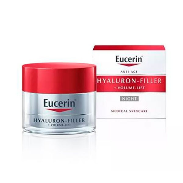 Eucerin Hyaluron Filler + Volume Lift Crema Facial de Noche, 50ml