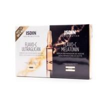 ISDIN Isdinceutics Flavo-C Ultraglican, 2 ampollas + Flavo-C Melatonin, 2 ampollas