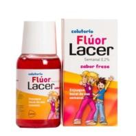 Lacer Flúor Semanal 0,2% sabor Fresa, 100 ml ! Farmaconfianza
